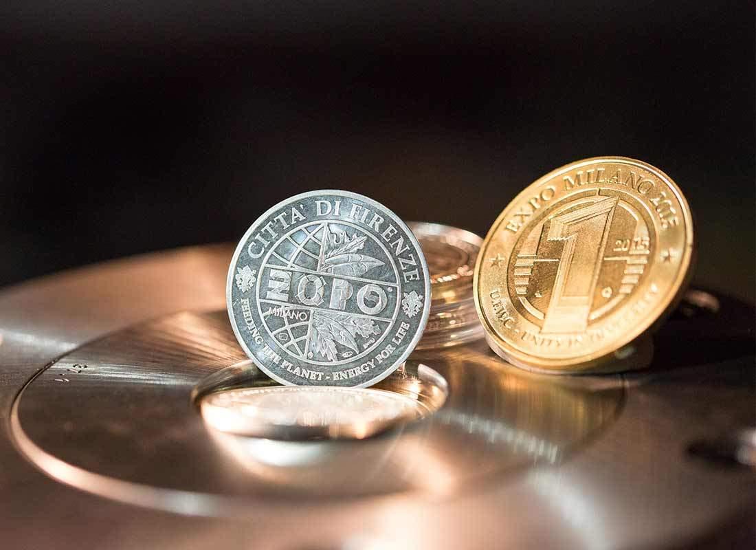 moneta argento e oro expo 2015 della picchiani e barlacchi